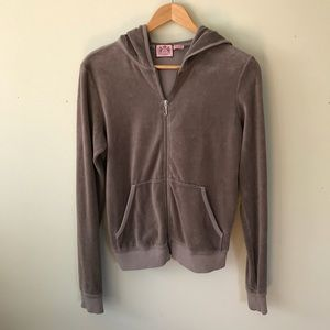 Juicy Couture Brown Velour Tracksuit Jacket